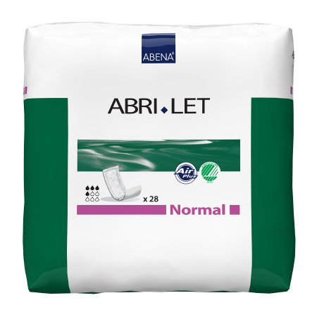 Incontinence Booster Pad Abri-Let™ Normal 4 X 15 Inch Moderate Absorbency Fluff / Polymer Core One Size Fits Most Adult Unisex Disposable Product Image