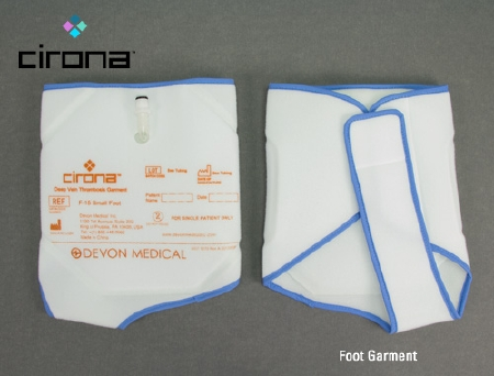fec076d636 DVT Compression Therapy Garment Adjustable Cirona™ Sleeves Left or Right  Foot Standard. Cirona Medical F-10