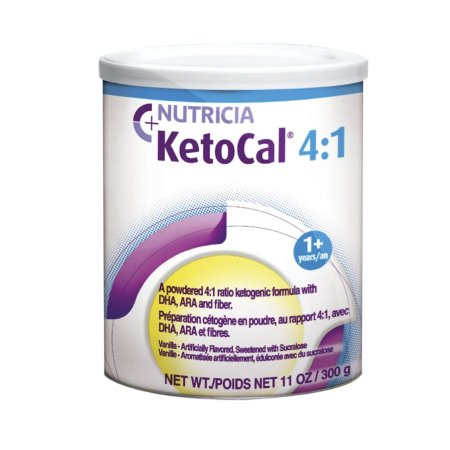 Oral Supplement KetoCal® 4:1 Vanilla Flavor Powder 300 Gram Can Product Image