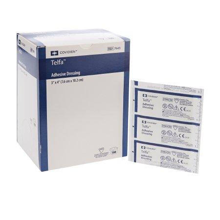 Adhesive Dressing Telfa™ 3 X 4 Inch Film / Cotton Rectangle White Sterile Product Image