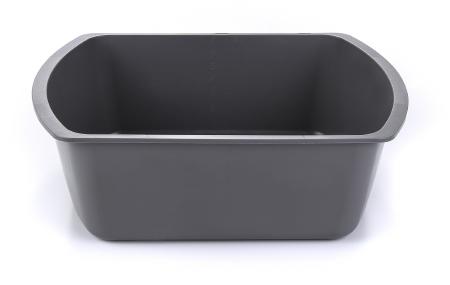 Wash Basin, 8 quart Rectangle Graphite (50/case)