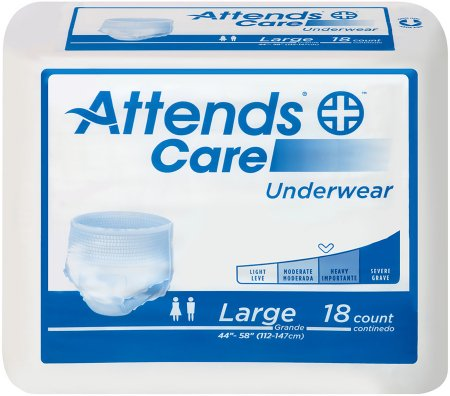 Image of Unisex Adult Absorbent Underwear Attends® Care Pull On with Tear Away Seams Large Disposable Moderate Absorbency