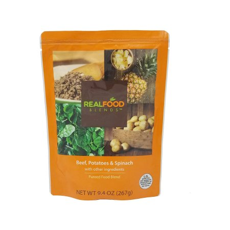 Tube Feeding Formula Real Food Blends™ 9.4 oz. Pouch Ready to Use Beef / Potatoes / Spinach Adult / Child Product Image