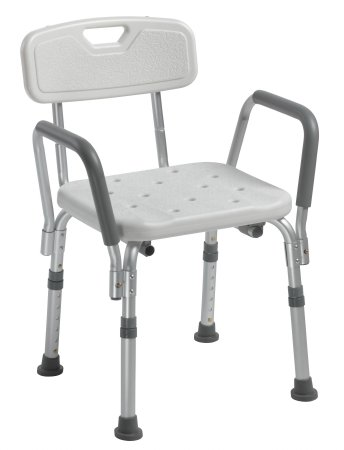 Bath Bench drive™ Padded Arm Aluminum Frame With Backrest 16 Inch Seat Width Product Image