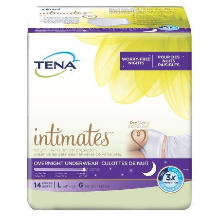 Female Adult Absorbent Underwear TENA® Overnight Pull On with Tear Away Seams Large Disposable Heavy Absorbency Product Image