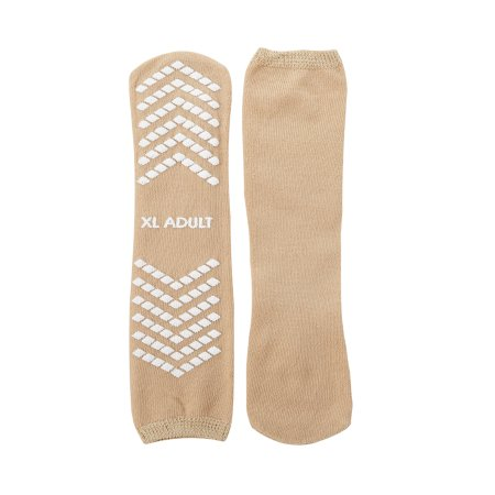 Slipper Socks McKesson X-Large Tan Above the Ankle Product Image