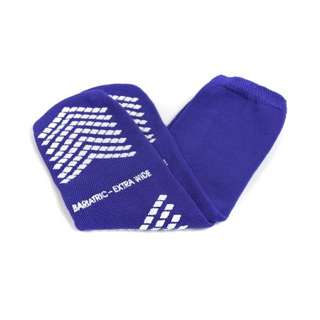 Slipper Socks McKesson Bariatric / Extra Wide Royal Blue Above the Ankle Product Image