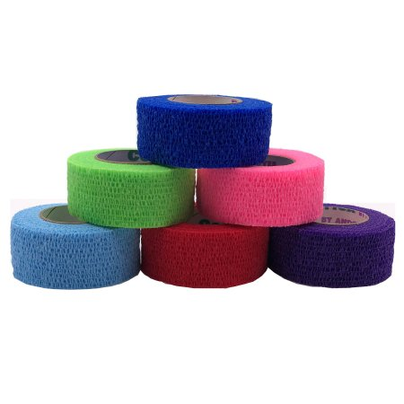 Cohesive Bandage CoFlex® 1 Inch X 5 Yard 14 lbs. Tensile Strength Self-adherent Closure Neon Pink / Blue / Purple / Light Blue / Neon Green / Red NonSterile Product Image