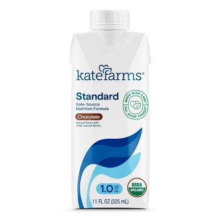 Kate Farms® Standard 1.0 Chocolate Oral Supplement / Tube Feeding Formula, 11 oz. Carton