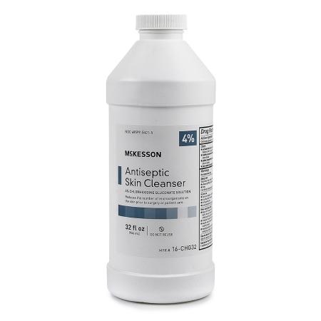 Antiseptic Skin Cleanser McKesson 32 oz. Bottle 4% Strength CHG (Chlorhexidine Gluconate) / Isopropyl Alcohol Product Image