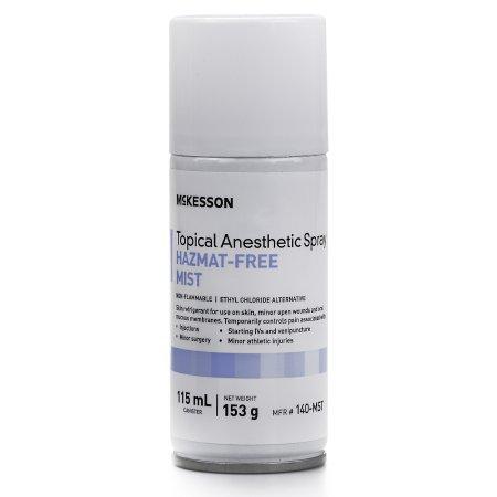 Topical Pain Relief McKesson Pentafluoropropane / Tetrafluoroethane Mist Spray 115 mL Product Image