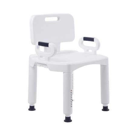 Bath Bench McKesson Removable Arm Rail Plastic Frame Removable Back 21-1/4 Inch Seat Width Product Image