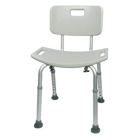 Bath Bench Mckesson 15.5 To 19.5 h 400 Lbs. Fixed Handle Qnty: One Each By Mc