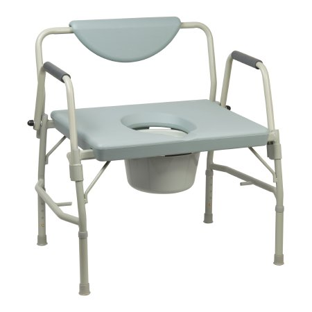 Commode Chair Mckesson Drop Arm Steel Frame Padded Back 17.5 To 22 h Qnty: On
