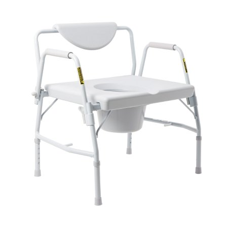Bariatric Commode Chair McKesson Drop Arm Steel Frame Padded Back 23-1/4 Inch Seat Width Product Image