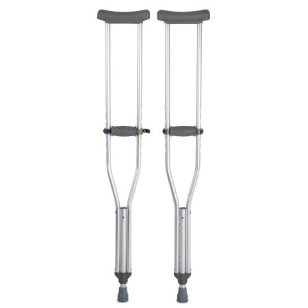 McKesson Underarm Crutches, 5 ft. 2 in. - 5 ft. 10 in., Adult, 300 lbs. Weight Capacity