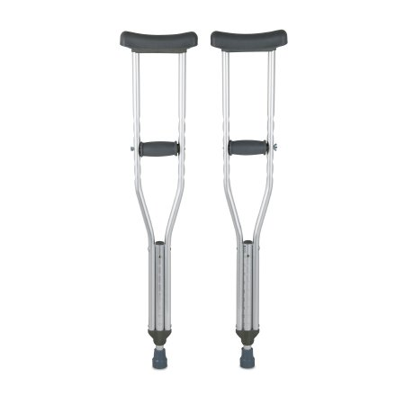 McKesson Underarm Crutches, 4 ft. 6 in. - 5 ft. 2 in., Child, 350 lbs. Weight Capacity