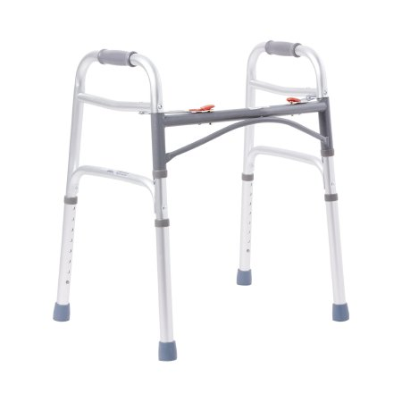 Folding Walker Adjustable Height McKesson Aluminum Frame 350 lbs. Weight Capacity 25 to 32 Inch Height Product Image
