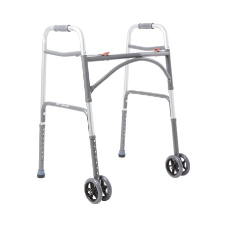 Bariatric Folding Walker Adjustable Height McKesson Steel Frame 500 lbs. Weight Capacity 32 to 39 Inch Height Product Image