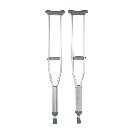 McKesson Underarm Crutches, 5 ft. 2 in. - 5 ft. 10 in., Adult, 350-lb Weight Capacity
