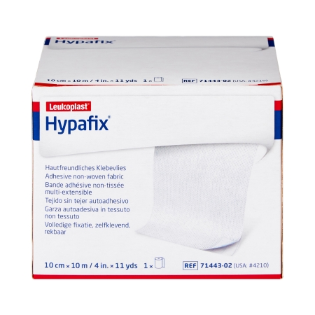 Dressing Retention Tape Hypafix® Skin Friendly Nonwoven 4 Inch X 10 Yard White NonSterile Product Image