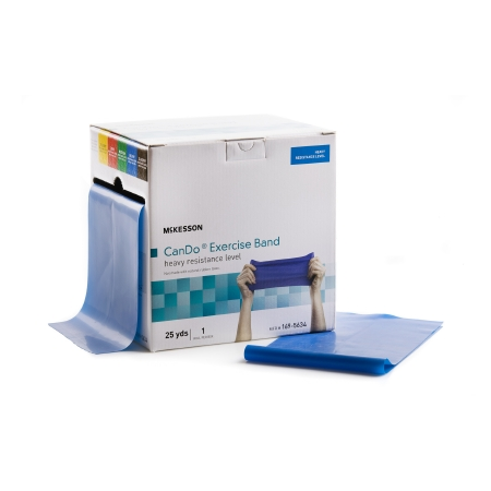 Exercise Resistance Band McKesson Blue 5 Inch X 25 Yard Heavy Resistance Product Image