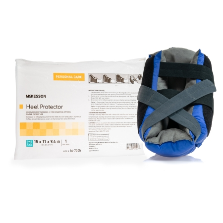 Heel Protector McKesson One Size Fits Most Black / Blue Product Image