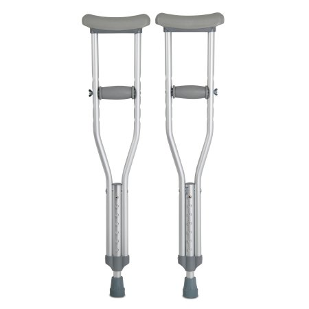 Underarm Crutches McKesson Aluminum Frame Child 175 lbs. Weight Capacity Push Button / Wing Nut Adjustment Product Image