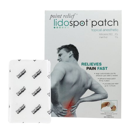 Topical Pain Relief LidoSpot™ 4% - 1% Strength Lidocaine / Menthol Patch 20 per Box Product Image