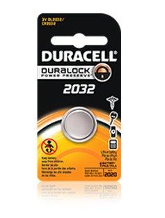 Lithium Battery, Duracell CR2032 cell 3V (12/Box)