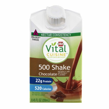 Oral Supplement Vital Cuisine® 500 Shake Chocolate Flavor Ready to Use 8.45 oz. Carton Product Image