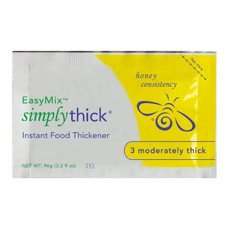 Food and Beverage Thickener SimplyThick® Easy Mix 96 Gram Individual Packet Unflavored Gel Honey Consistency Product Image