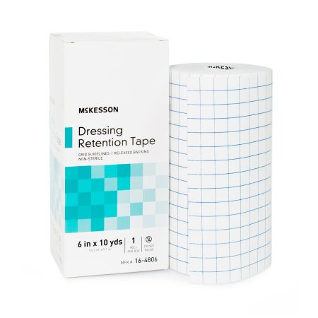 Dressing Retention Tape McKesson Nonwoven Fabric / Printed Release Paper 6 Inch X 10 Yard White NonSterile Product Image