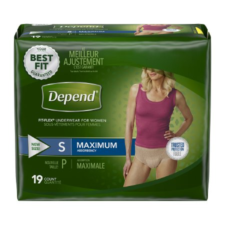 Female Adult Absorbent Underwear Depend® FIT-FLEX® Pull On with Tear Away Seams Small Disposable Heavy Absorbency Product Image