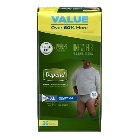 Male Adult Absorbent Underwear Depend® FIT-FLEX® Pull On with Tear Away Seams X-Large Disposable Heavy Absorbency Product Image