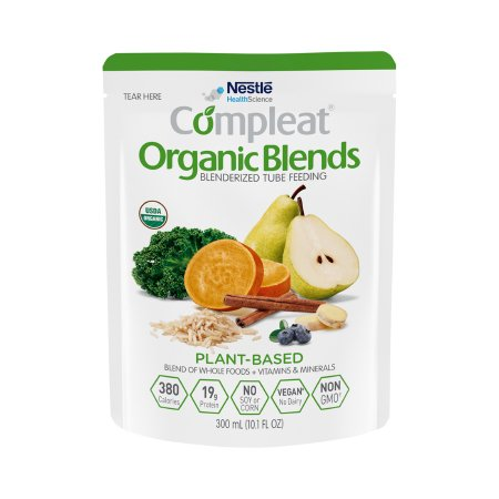 Oral Supplement / Tube Feeding Formula Compleat® Organic Blends Plant Blend Flavor Ready to Use 10.1 oz. Pouch Product Image