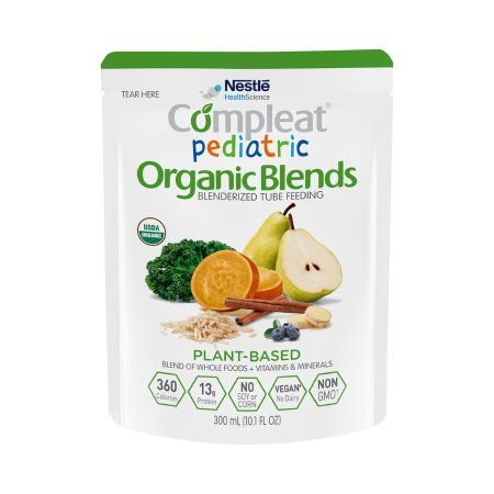 Pediatric Oral Supplement / Tube Feeding Formula Compleat® Pediatric Organic Blends Plant Blend Flavor 10.1 oz. Pouch Ready to Use Product Image