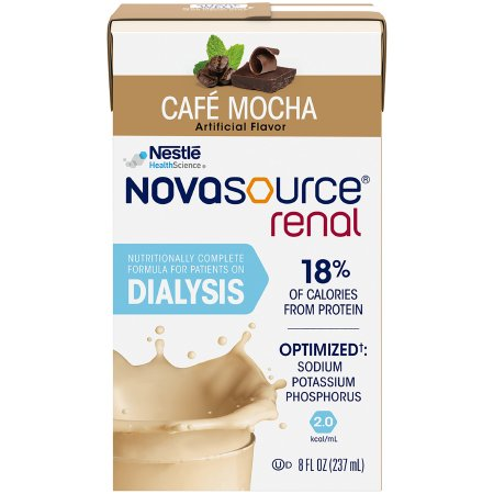 Oral Supplement / Tube Feeding Formula Novasource® Renal Mocha Flavor Ready to Use 8 oz. Carton Product Image