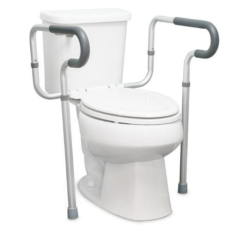 Toilet Safety Rail McKesson Gray Aluminum Product Image