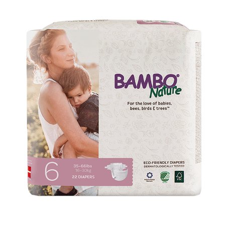 Unisex Baby Diaper Bambo® Nature Size 6 Disposable Heavy Absorbency Product Image