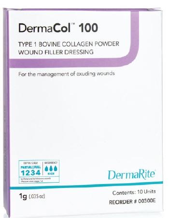 Wound Filler Dressing DermaCol 100 Collagen Powder (10/box)
