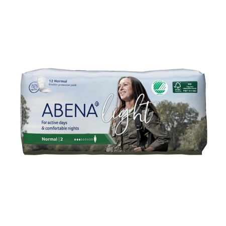 Bladder Control Pad Abena™ Light Normal 10 Inch Length Light Absorbency Fluff / Polymer Core One Size Fits Most Adult Unisex Disposable Product Image