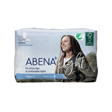 Bladder Control Pad Abena™ Light Extra 13 Inch Length Light Absorbency Fluff / Polymer Core One Size Fits Most Adult Unisex Disposable Product Image