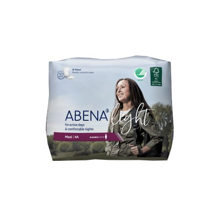 Bladder Control Pad Abena™ Light Maxi 16-1/2 Inch Length Moderate Absorbency Fluff / Polymer Core One Size Fits Most Adult Unisex Disposable Product Image