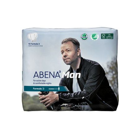 Bladder Control Pad Abena™-Man 11 Inch Length Moderate Absorbency Fluff / Polymer Core Formula 2 Adult Male Disposable Product Image