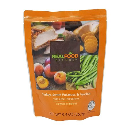 Tube Feeding Formula Real Food Blends™ 9.4 oz. Pouch Ready to Use Turkey / Sweet Potatoes / Peaches Adult / Child Product Image