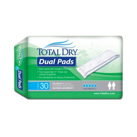 Incontinence Liner TotalDry™ 11 Inch Length Moderate Absorbency One Size Fits Most Adult Unisex Disposable Product Image