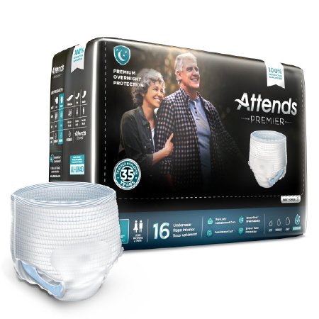 Attends® Premier Adult Heavy Absorbent Underwear, Large, White
