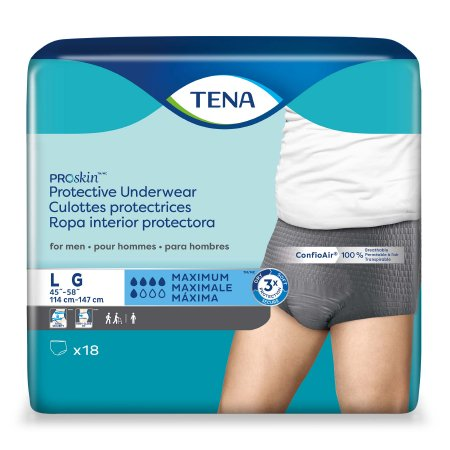 Male Adult Absorbent Underwear TENA ProSkin™ Pull On with Tear Away Seams Large Disposable Moderate Absorbency Product Image