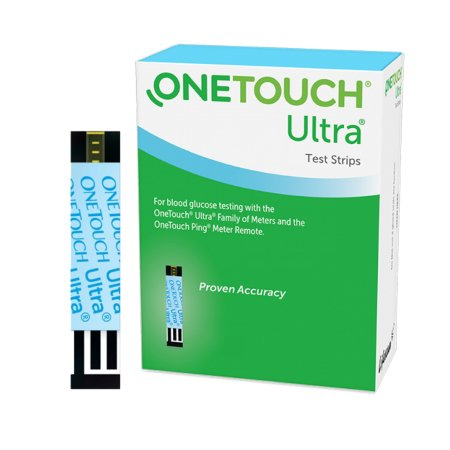 Blood Glucose Test Strips OneTouch® Ultra® 25 Strips per Box For OneTouch® Ultra® Blood Glucose Meter Product Image